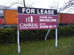 Coloured Horizontal CANREAL For Lease Sign Street View