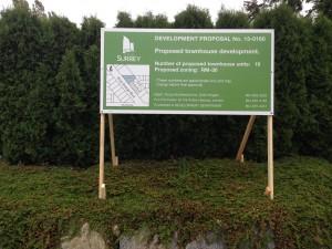 Green Surrey Development Proposal Sign Street View