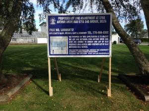 Blue Delta Development Sign Street View