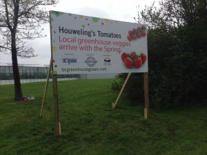 Coloured Horizontal Houweling's Tomatoes Sign Street View