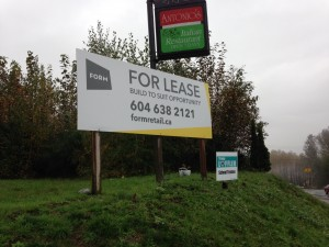 Coloured Horizontal FORM For Lease Sign Street View