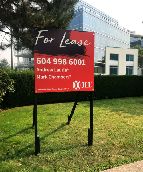 Coloured Square JLL For Lease Signs Street View