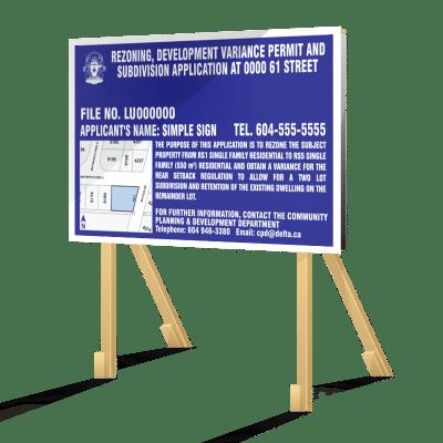 Blue Delta Development Sign