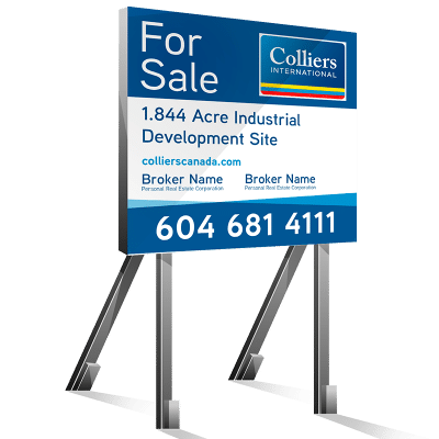 Coloured Square For Lease Colliers Signs