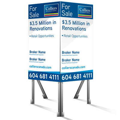 Coloured Verticle For Sale Colliers Signs