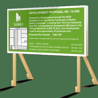 Green Surrey Development Proposal Sign