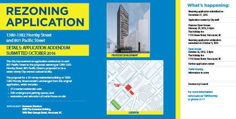 Coloured Horizontal Vancouver Rezoning Application Sign Image