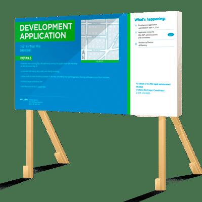 Coloured Horizontal Vancouver Development Application Sign